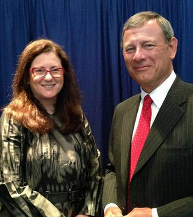 Barbara Mayden with Chief Justice Roberts